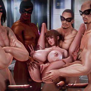 Jouer à un jeu de sexe gangbang