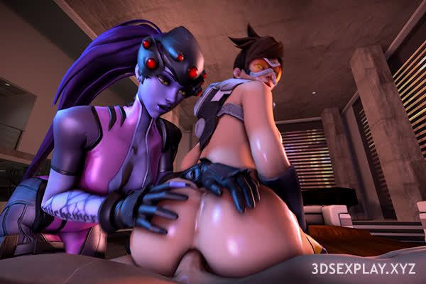 Tracer and Widowmaker X 1 Dick